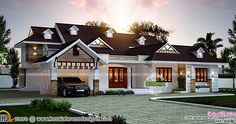 Discover Kerala and Indian Style Home Designs, Kerala House Plans,Elevations and Models with estimates for your Dream Home.Home Plans with Cost and Photos are provided. Bungalow Haus Design, Duplex House Design, Bungalow House Plans, Bungalow Designs, Indian Home Design, Kerala House Design, Single Floor House Design, Simple House Design, House Floor