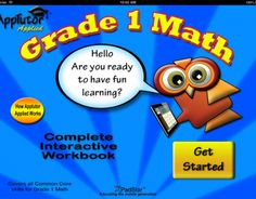 9 best grade 1 math app workbook images on pinterest common core apptutor grade 1 full curriculum math interactive workbook is a comprehensive collection of all common core fandeluxe Images
