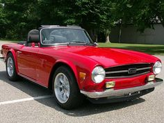 TR6 twin roll hoops with vinyl covers