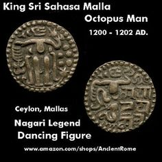 Ancient Indian Octopus Man Coin