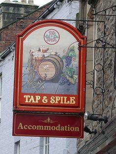 Pub Sign - Tap & Spile, Battle Hill, Hexham 110107 by maljoe, via Flickr