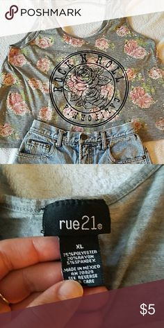 Rose tank Rock and Roll California Rue 21 Tops Tank Tops