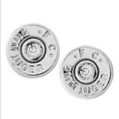 """Bullet Top Earrings """"The Ali"""" bullet top earrings. Ideal for everyday wear and a great way to share your fight against hunger!  Provides 7 meals for children in need 👫👫...  9 mm casing top.  Hypoallergenic earring posts!!  Made in the USA !!  💥Lowest Price💥 Half United Jewelry Earrings"""