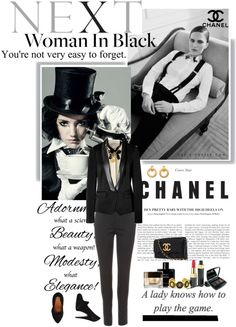 """Tuxedo (added to Polyvore's collection!)"" by solespejismo ❤ liked on Polyvore"