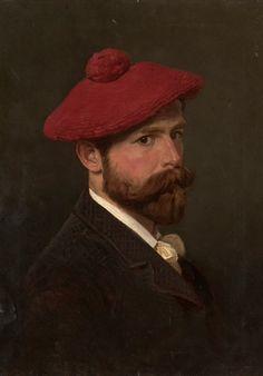 Alexander Villevalde (Russian, 1857-after 1906), Self-Portrait, 1888. Oil on canvas, 59.5 x 44 cm.