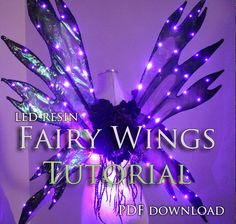 Ever wonder how we make our light up resin fairy wings? Now in our Etsy store we offer a step-by-step tutorial on how you can create your own!HERE