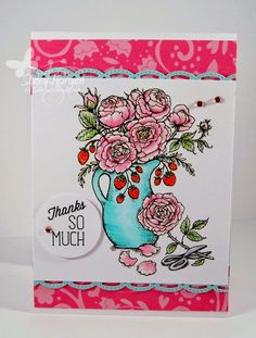 Arranging roses http://powerpoppy.com/collections/digital-stamps/products/arranging-roses
