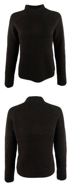 $34.99 - Lauren Ralph Lauren Womens Wool Ribbed Pullover Sweater Black #ralphlauren
