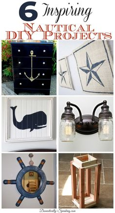 6 Inspiring Nautical DIY Projects Love the mason jar light for use over bathroom sink/mirror