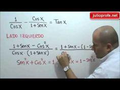 Demostrar una identidad trigonométrica: Julio Rios hace la demostración de una identidad trigonométrica.