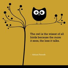 My Grandma Massey used to always tell me: The wise old owl sat in the oak.  The more he heard, the less he spoke.  The less he spoke, the more he learned.  Why can't I be like that wise old bird!  Wonder why I love owls so much? =)