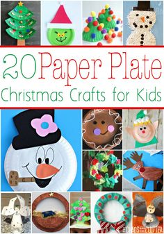 Paper Plate Christmas Crafts for kids to do on a cold rainy day!
