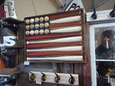 Ball & Bat.  Would be SO cute for a baseball room! @Michelle Flynn, alternative to the giant baseball one.