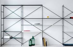 is a minimalist design created by Denmark-based designer MA/U. table and shelving system is designed from the idea of joining simple principles; optimized use of materials, enhanced functionality, and a minimalistic expression. Home Decor Furniture, Table Furniture, Furniture Design, Chair Design, Cupboard Shelves, Storage Cabinets, Shelf, Book Shelves, Beautiful Closets