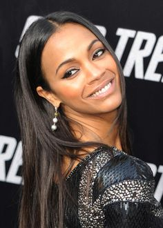 Zoe Saldana. So beautiful and talented, she's my favorite actress.