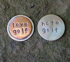 Golfing Ball marker Love Golf Hate Golf one marker by DoggoneTags, $14.00