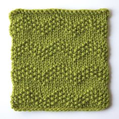 How to knit seeded chevron stitch
