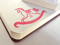 rocking horse - hand carved stamp