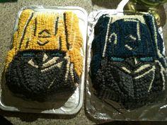 Transformers - Optimus prime & bumblebee cakes