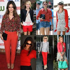How to work red into your wardrobe.  Love all of them. :)