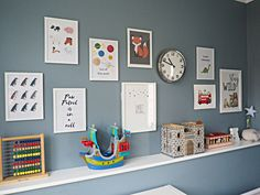 Arlos Eclectic Toddler Boy Bedroom: DIY prints and gallery wall - The Spirited Puddle Jumper