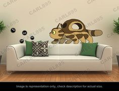 Ghibli Totoro - Little Catbus / Soot Sprites Wall Art Applique Stickers