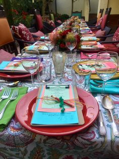 Colorful Set Table
