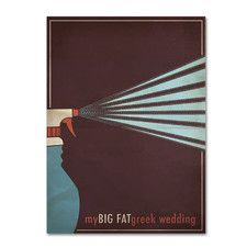 'My Big Fat Green Wedding' Canvas Art