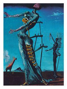 Die brennende Giraffe, 1935, Salvador Dali