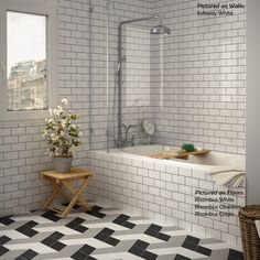 Subway White - Ceramic wall tile - TilesInspired