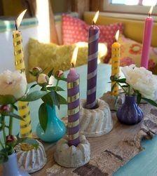 Gugelhupf-Kerzenständer aus Beton