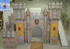 Completely customized castle with the medieval touch for a young boy or knight; this themed loft bed comes with turrets, a draw bridge, gran...