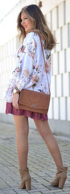 Floral Kimono Inspiration Outfit by Mi Aventura Con La Moda