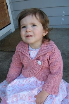 Knitting Pure and Simple--Diane Soucy--Children's Neckdown Bolero (ages 2 - 10)