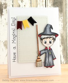 limedoodle, Clearly Besotted Stamps, Harry Potter, boys birthday, card