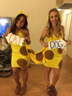 Catdog Halloween Costume ; DIY Costume ; Duos Costume  sc 1 st  Pinterest : catdog costume for dog  - Germanpascual.Com