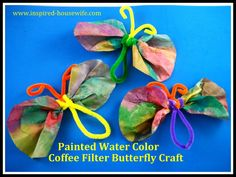Coffee Filter Butterflys!  Bonus - I have all the materials lying around the house already :)  super cute for spring