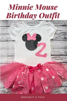 e2fc20b10 Minnie Mouse Birthday Outfit. Minnie First Birthday Outfit. Minnie Mouse  Tutu. Minnie Bodysuit.