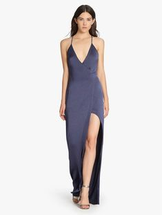Satin Slip Gown by Halston Heritage