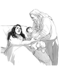 Dis, Kili, and Fili and Kili's daddy