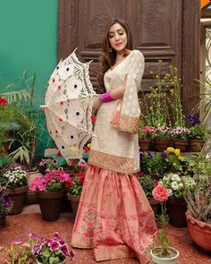 Eid Collection Vol - I Luxury Pret For orders and inquiries; Pakistani Fashion Party Wear, Pakistani Wedding Outfits, Pakistani Couture, Pakistani Dress Design, Pakistani Dresses, Indian Dresses, Indian Outfits, Indian Fashion, Beautiful Girl Image