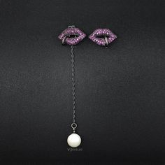 e502d06e02c UMODE Unique Retro Charm Rhinestone Sexy Rose Red Lips Crystal Drop Earrings  with Shell Pearl for Women Boucle D Oreille