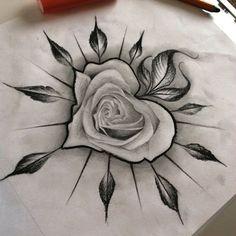 dibujos de rosas para tatuaje en corazon