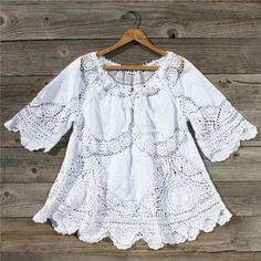Vintage 70's Lace Embroidered Tunic