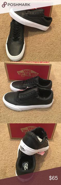 Vans Perforated Leather Old Skool Zip New in box. Black. Vans Shoes Sneakers
