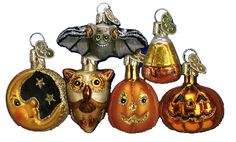 Mini Halloween Assortment Glass Ornament