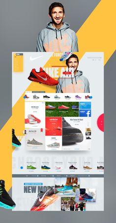 Nike Store on Behance