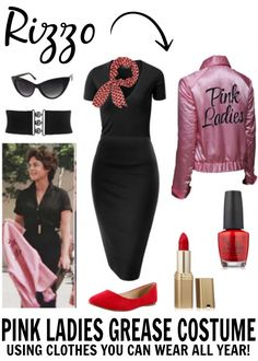 Grease Costume Idea: The Pink Ladies, T Birds, Sandy & Danny Grease Themed Parties, Grease Party, Grease Movie, Musical Grease, Grease 1978, Grease Halloween Costumes, Theme Halloween, Couple Halloween, Vintage Halloween