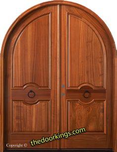 Mahogany round top door. www.thedoorkings.com