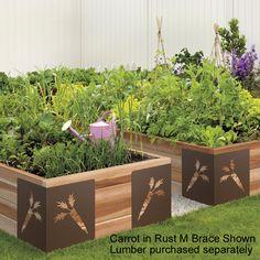... Raised Garden Bed :: Garden Bed Braces :: M Brace Raised Garden Bed